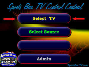 SBTouch System - Easy as 1-2-3 - First, Select TV
