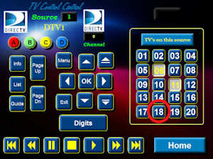 SBTouch System - Easy as 1-2-3 - Third, Select TV18 (Program Destination)
